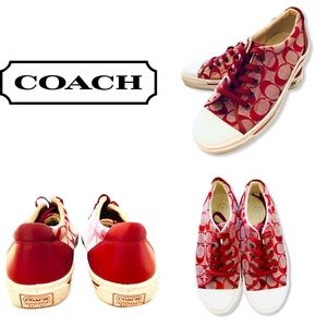 ❤️RED COACH Tennis Shoes